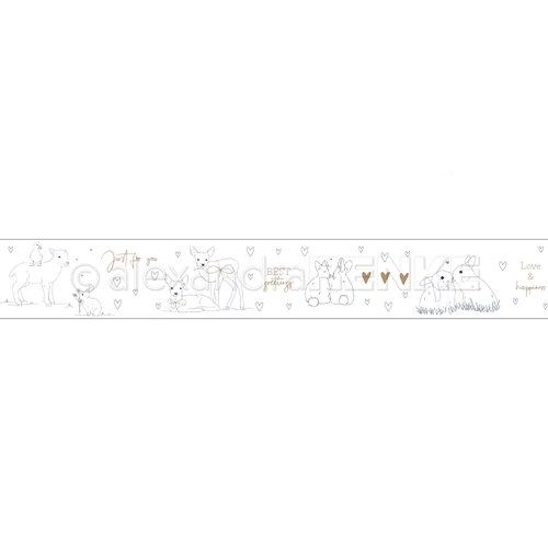 Alexandra Renke ANIMAL GREETINGS Washi Tape wtarti0014* Preview Image