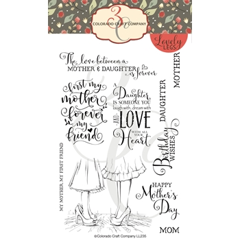Colorado Craft Company Lovely Legs MOTHERS AND DAUGHTERS Clear Stamps LL235