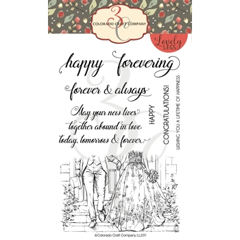 Colorado Craft Company Lovely Legs HAPPY FOREVERING Clear Stamps LL231