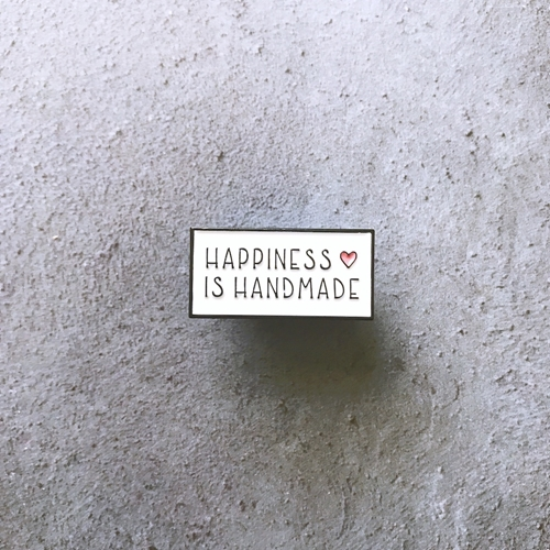 The Gray Muse HAPPINESS IS HANDMADE Enamel Pin tgm-m19-p04 Preview Image
