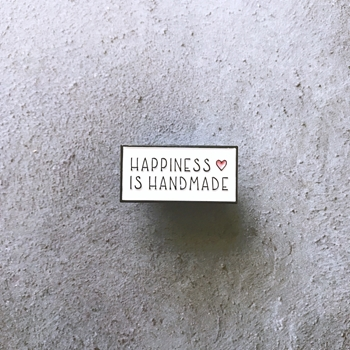 The Gray Muse HAPPINESS IS HANDMADE Enamel Pin tgm-m19-p04