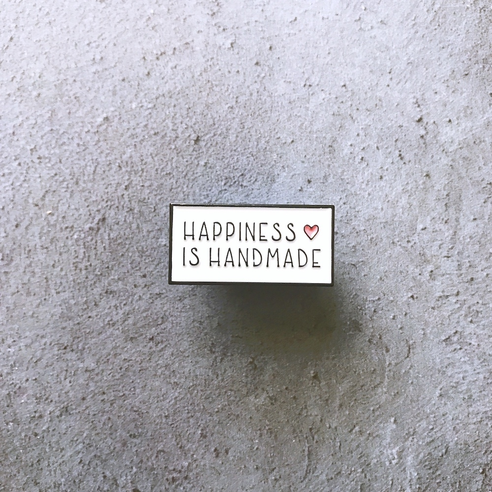 The Gray Muse HAPPINESS IS HANDMADE Enamel Pin tgm-m19-p04 zoom image