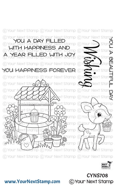 Your Next Stamp JOYFUL WISHING WELL Clear cyns708 zoom image