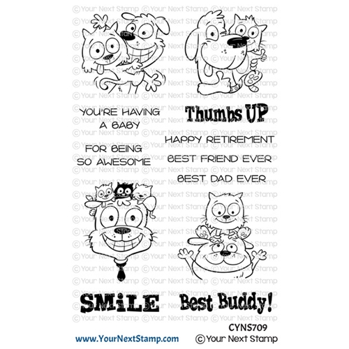 Your Next Stamp Thumbs Up Photo Booth Clear Stamp Set