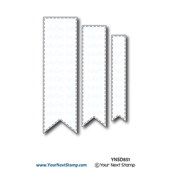 Your Next Die STITCHED FISHTAIL BANNER ynsd851