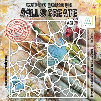 AALL & Create ICE CRACKS Stencil aal10068