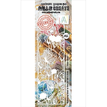 AALL & Create FLOWER DREAM Stencil Border aal10065