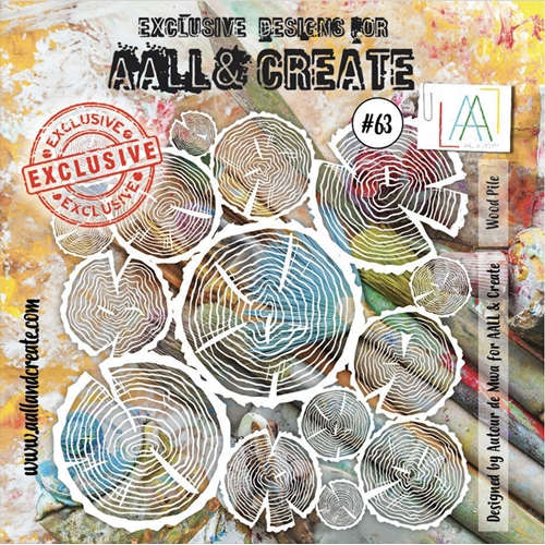 AALL & Create WOOD PILE Stencil aal10063 Preview Image