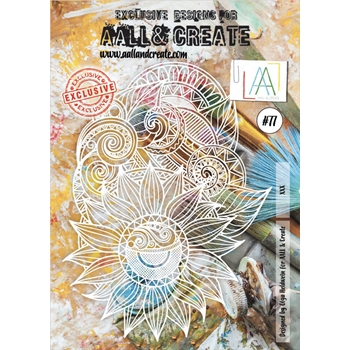 AALL & Create SUNFLOWER POWER Stencil a4 aal10077
