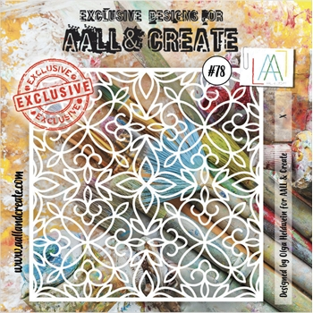 AALL & Create CLOISTER GRILLE Stencil aal10078