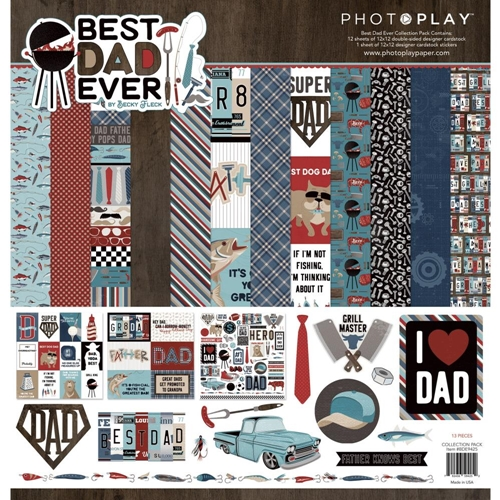 PhotoPlay BEST DAD EVER 12 x 12 Collection Pack bde9425 Preview Image