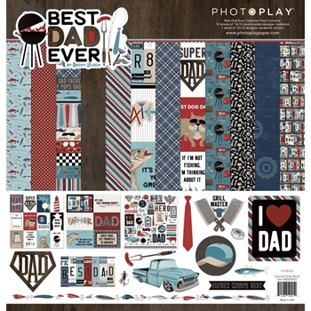 PhotoPlay BEST DAD EVER 12 x 12 Collection Pack bde9425
