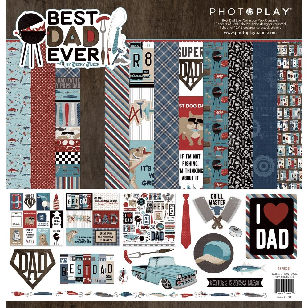 PhotoPlay BEST DAD EVER 12 x 12 Collection Pack bde9425 zoom image