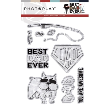 PhotoPlay BEST DAD EVER Clear Stamps bde9427
