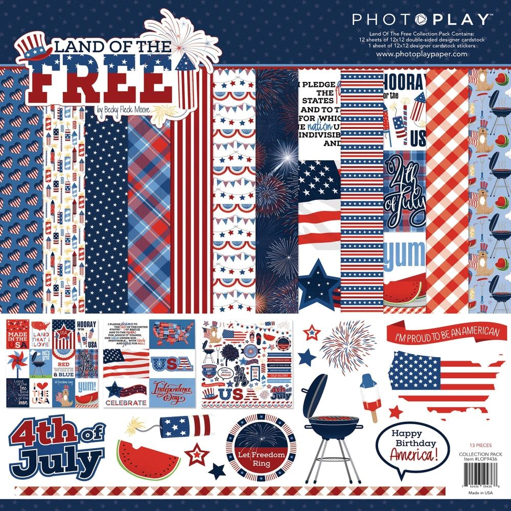 PhotoPlay LAND OF THE FREE 12 x 12 Collection Pack lof9436 zoom image