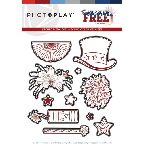 PhotoPlay LAND OF THE FREE Die Set lof9439 Preview Image