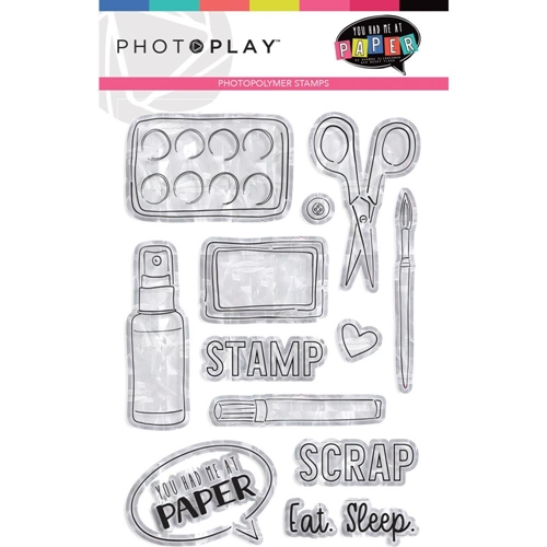 PhotoPlay YOU HAD ME AT PAPER Clear Stamps yhm9449 Preview Image