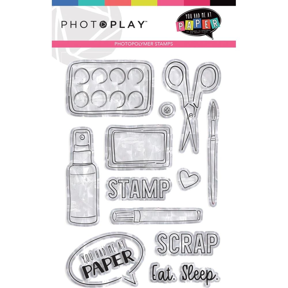 PhotoPlay YOU HAD ME AT PAPER Clear Stamps yhm9449 zoom image
