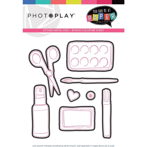 PhotoPlay YOU HAD ME AT PAPER Die Set yhm9450 Preview Image