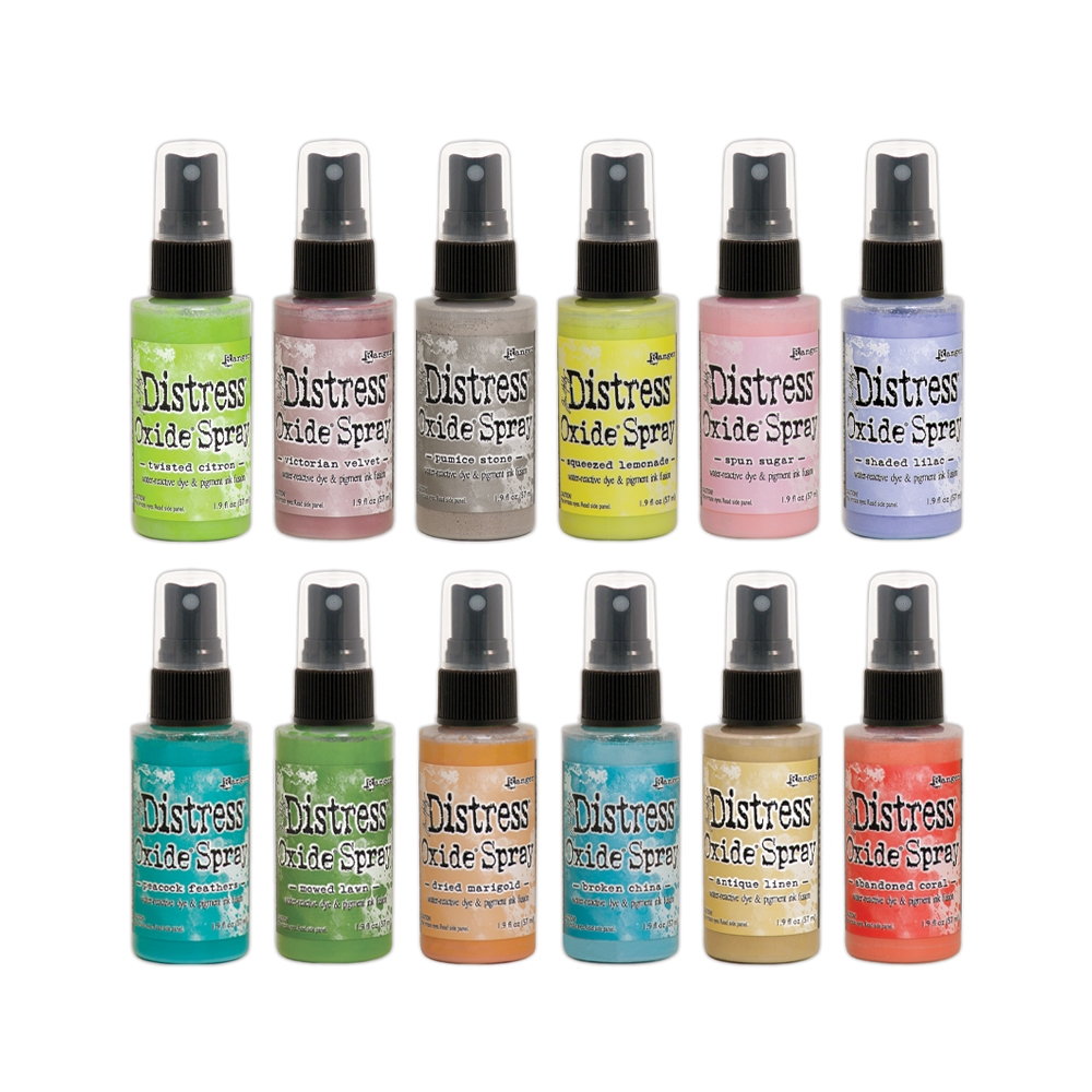 Tim Holtz Distress OXIDE SPRAY SET OF 12 Ranger ranger120 zoom image