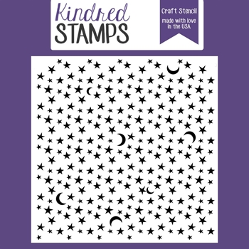 Kindred Stamps MOON AND STARS Stencil 02133564