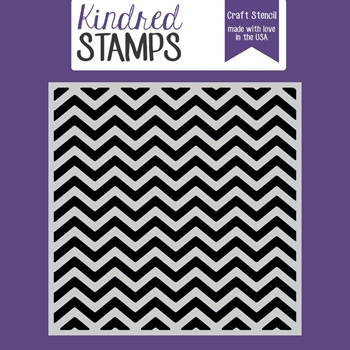 Kindred Stamps CHEVRON Stencil 92172092