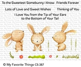 My Favorite Things SWEETEST SOMEBUNNY Clear Stamps CS387 zoom image