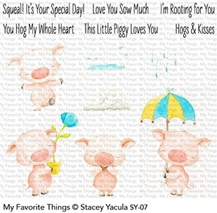 My Favorite Things PIGGY PEBBLES Clear Stamps SY07
