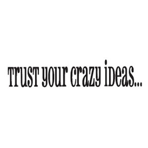 Tim Holtz Rubber Stamp CRAZY IDEAS Trust Your G3-1074 * Preview Image