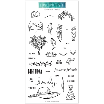 Concord & 9th FASHION WEAR Clear Stamp Set 10586*