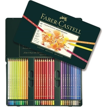 Faber-Castell POLYCHROMOS COLORED PENCILS 60 Piece Set in Tin 110060