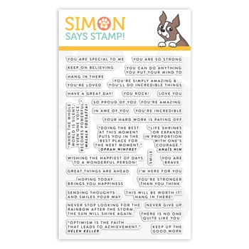 Simon Says Clear Stamps TINY WORDS ENCOURAGEMENT sss101972 Blossoms and Butterflies