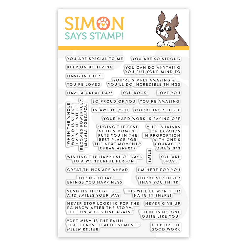 Simon Says Clear Stamps TINY WORDS ENCOURAGEMENT sss101972 Blossoms and Butterflies zoom image