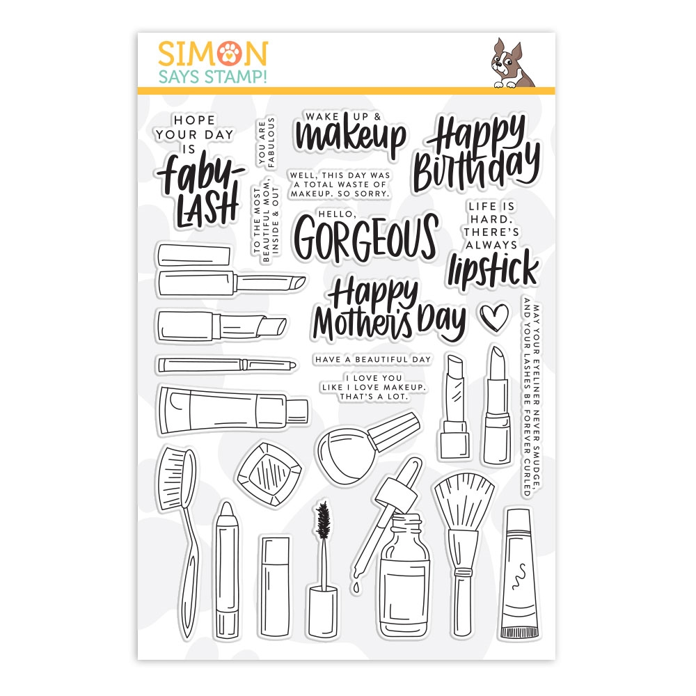 Simon Says Clear Stamps WAKE UP AND MAKEUP sss201973 Blossoms and Butterflies zoom image