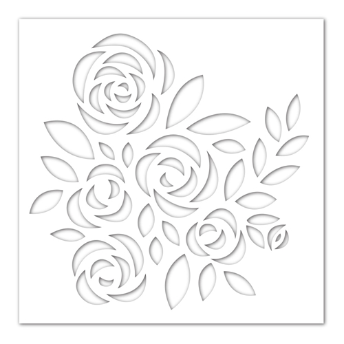 Simon Says Stamp Stencil BOUQUET OF ROSES ssst121442 Blossoms and Butterflies Preview Image