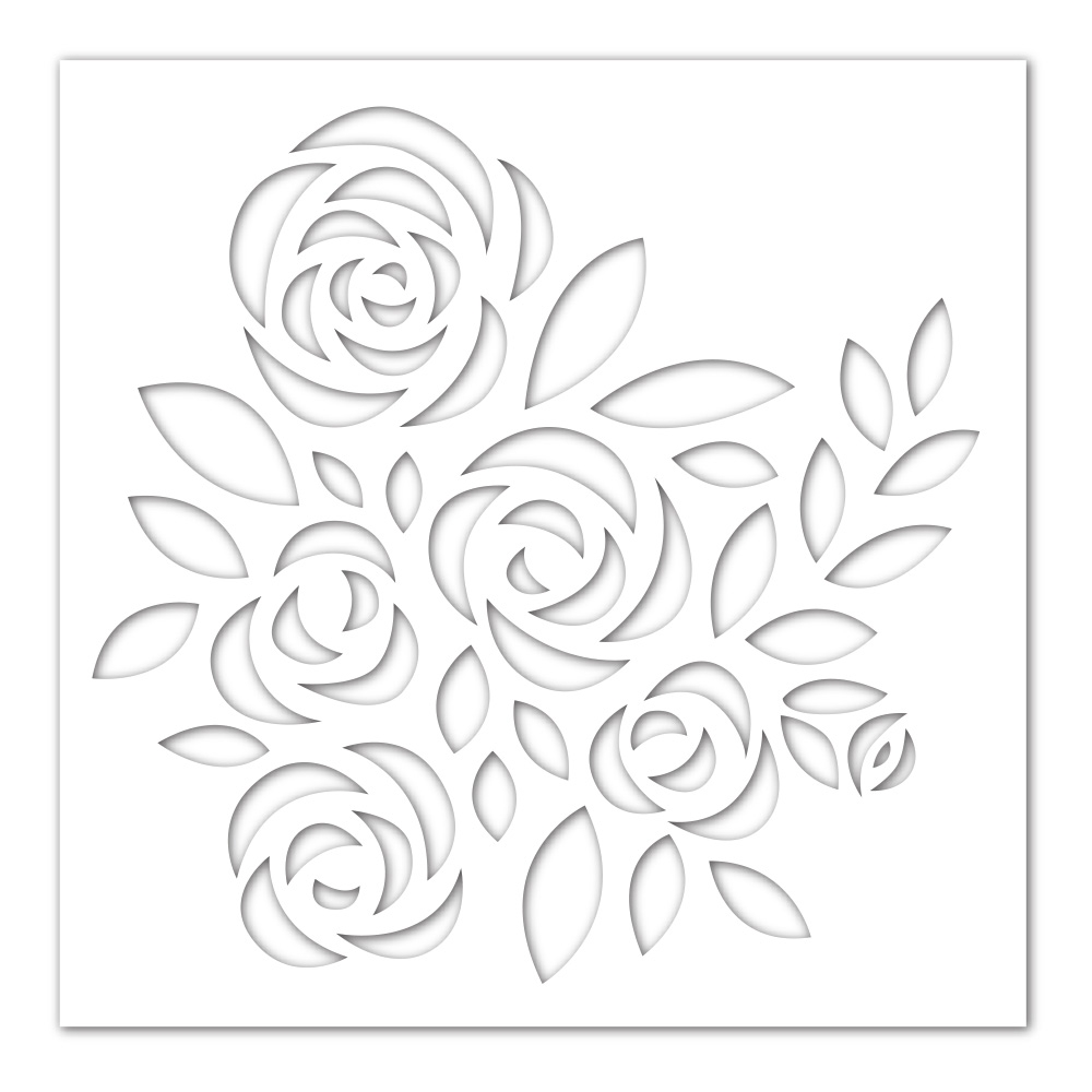 Simon Says Stamp Stencil BOUQUET OF ROSES ssst121442 Blossoms and Butterflies zoom image