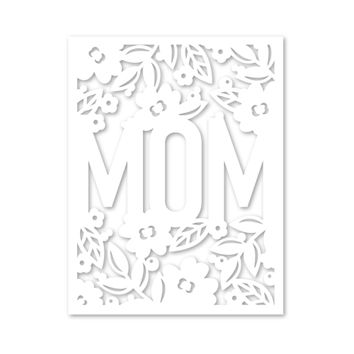 Simon Says Stamp FLORAL MOM FRAME Wafer Die sssd111973 Blossoms and Butterflies Preview Image