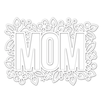 Simon Says Stamp OUTLINE FLORAL MOM Wafer Die sssd111970 Blossoms and Butterflies