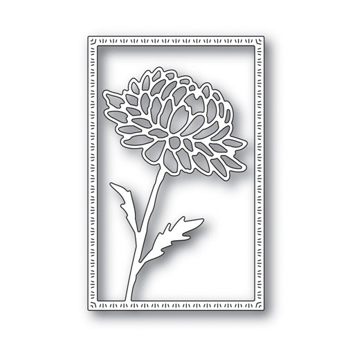 Simon Says Stamp DAHLIA FRAME Wafer Die s643 Blossoms and Butterflies Preview Image