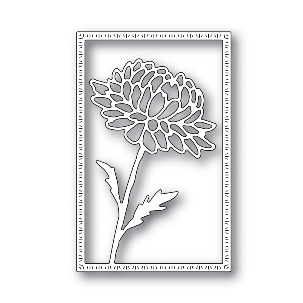 Simon Says Stamp DAHLIA FRAME Wafer Die s643 Blossoms and Butterflies zoom image