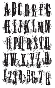 Tim Holtz Rubber Stamp ALPHA GRUNGE x3-1221 * Preview Image