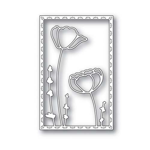Simon Says Stamp POPPY FRAME Wafer Die s639 Blossoms and Butterflies Preview Image