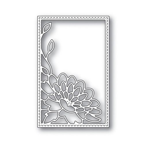 Simon Says Stamp DAHLIA CORNER FRAME Wafer Die s642 Blossoms and Butterflies Preview Image