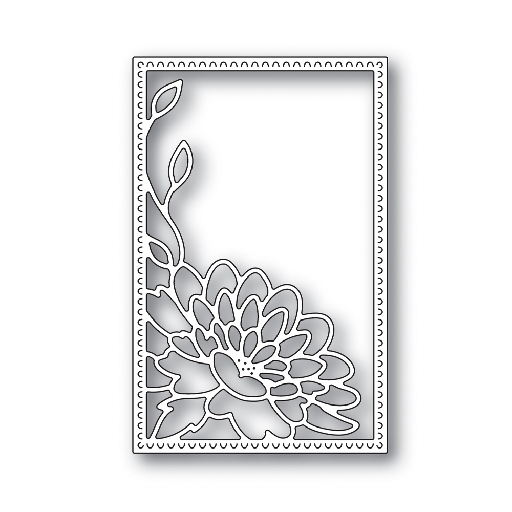 Simon Says Stamp DAHLIA CORNER FRAME Wafer Die s642 Blossoms and Butterflies zoom image