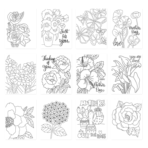 Simon Says Stamp Suzy's PICKED JUST FOR YOU Prints szwcpfy19 Blossoms and Butterflies Preview Image
