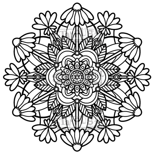 Stamplistic Cling Stamp FLOWER MEDALLION j190401 Preview Image