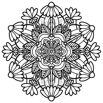 Stamplistic Cling Stamp FLOWER MEDALLION j190401