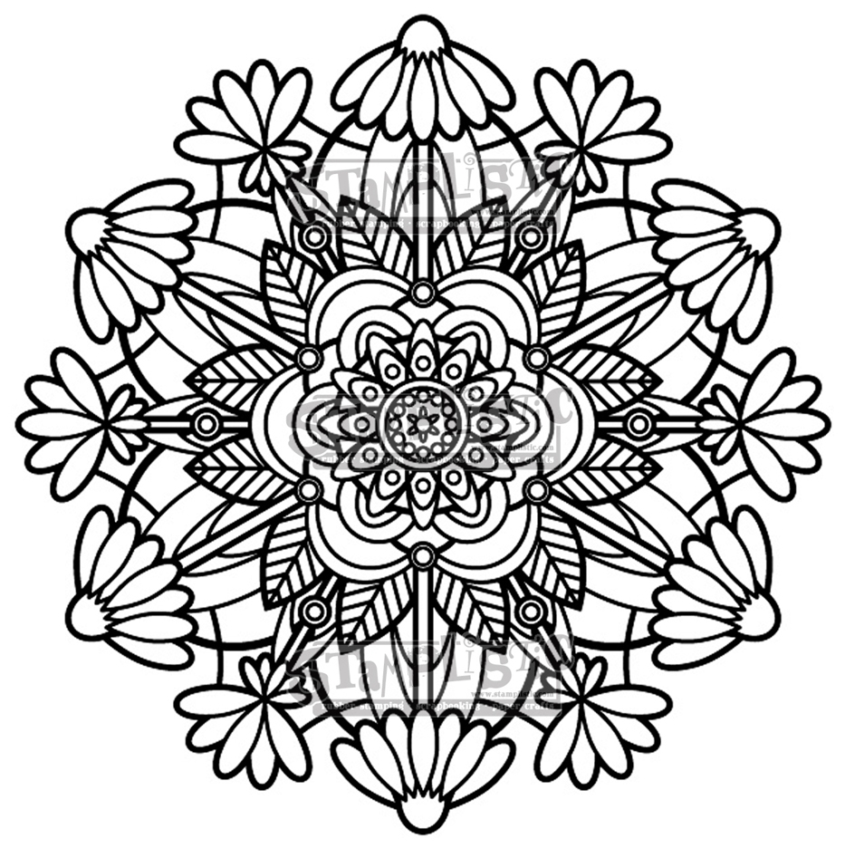 Stamplistic Cling Stamp FLOWER MEDALLION j190401 zoom image