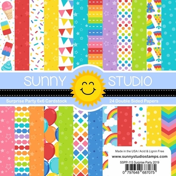 Sunny Studio SURPRISE PARTY Paper Pad SSPP-115