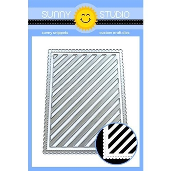 Sunny Studio FRILLY FRAMES STRIPES Dies SSDIE-135